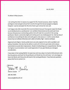 Sample Letter Of Recommendation For New Graduate Nurse 20 Images Of Nursing Student Recommendation Letter