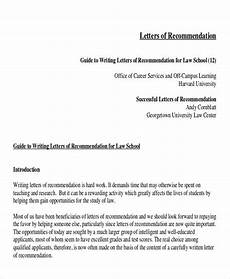 How To Write Law School Letter Of Recommendation Free 5 Sample Law School Letter Of Recommendation In Ms