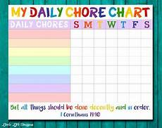 Kids Chore Chart Template Chore Chart For Kids Chore Chart Printable Chore List Kids