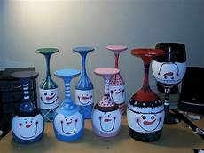 Christmas Wine Glass Tea Light Holders 17 Best Images About Wine Glass Candle Stick Holders On