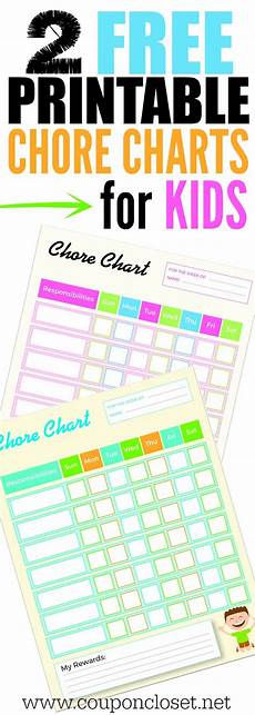 Where To Buy Chore Charts Free Printable Chore Charts For Kids Coupon Closet