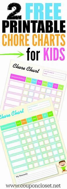 Coupon Chart Free Printable Chore Charts For Kids Coupon Closet