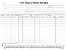 Farrowing Chart Sow Production Record 4h1341 Msu Extension