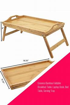 greenco bamboo foldable breakfast table laptop desk bed