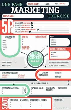 1 Page Marketing Plan Marketing Plan Infographic