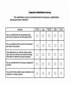 Customer Satisfaction Form Free 40 Examples Of Survey Forms In Pdf Excel Ms Word