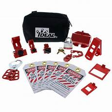 Lock Out Tag Out Ideal Basic Lockout Tagout Kit 15 Piece 44 970 The