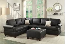 Black Sectional Sofa 3d Image by Black Leather Sectional Sofa Loveseat Wedge Sectionals