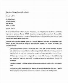 Operations Manager Cover Letter Samples 52 Professional Manager Resumes Pdf Doc Free