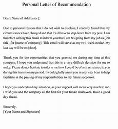 Letter Of Recommendation Without Addressee Personal Recommendation Letter 25 Sample Letters And