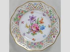 """""""Chateau Dresden"""" china pattern with pierced rim"""