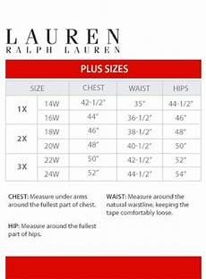 Ralph Chest Size Chart 1000 Images About Brand Name Plus Size Charts On