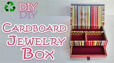 how to make a cardboard jewelry box diy crafts