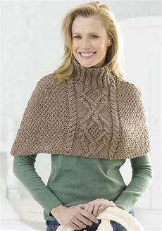 knitting poncho cable half poncho knitting pattern favecrafts