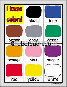 Basic Color Chart For Kids Chart Colors Primary Preview 1 Preschool Ideas