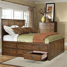 oak park 12 drawer storage bed intercon furniture 2