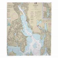 Chart House Narragansett Longshore Tides Viggo Providence River Ri Fleece Throw