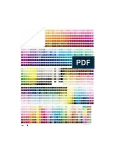 Pantone To Ncs Conversion Chart Hks Pantone Equivalent