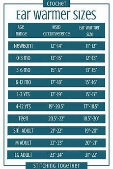 Foe Headband Chart Crochet Ear Warmer Pattern And Size Chart Crochet Ear