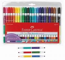 Faber Castell Malvorlagen Ebay Marker Set 24pc Dual Tip 48 Colors Washable Faber Castell