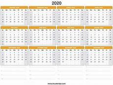 Calendar Forms 2020 2020 Calendar Printable 2020 Calendar