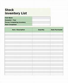 Stock Inventory Format Sample Stock Inventory 6 Free Sample Example Format Download