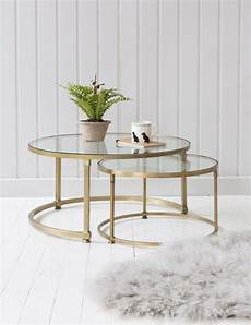 coco nesting glass coffee tables glass
