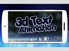3D Text Animator   Intro Maker, 3D Logo Animation for