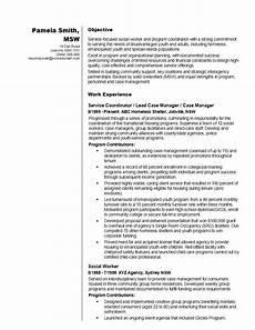 Working Skills Resume Social Worker Resume Sample
