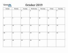 October Calendar October 2019 Calendar Pdf Word Excel