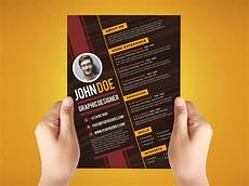 Creative Graphic Design Resume Free Creative Resume Design Template For Graphic Designer