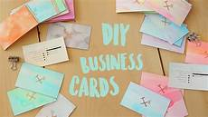Home Made Buisness Cards Diy Business Cards Watercolour And Gold Edge The Sorry