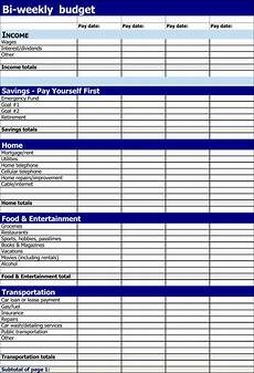 Budgeting Planner Template 11 Free Bi Weekly Budget Templates Word Excel