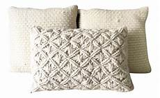 Throw Blankets For Sofa Png Image by White Wool Macrame Pillows Set Of 3 Inserts Included