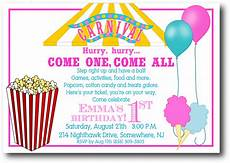 Carnival Theme Party Invitations Templates Carnival Ticket Invitation Template Cliparts Co