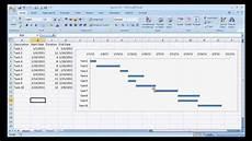 Ms Office Gantt Chart Template Create A Basic Gantt Chart Youtube System A