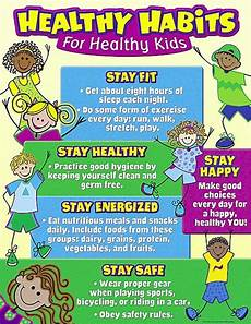 Good Eating Habits Chart Healthy Habits For Healthy Kids Chart Healthy Habits For
