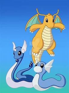 Pokemon Dragonair Evolution Chart Pok 233 Mon By Review 147 149 Dratini Dragonair Amp Dragonite