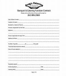 Catering Contracts Samples 16 Sample Catering Contract Templates Docs Pages Word