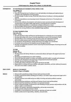 Tutor Resume Tutor Resume Samples Velvet Jobs