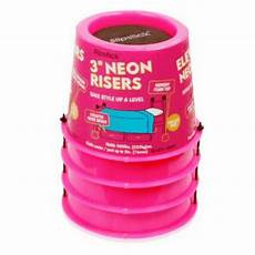 cb641 slipstick 76 2mm 3 quot lift neon pink bed risers