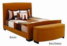 katelyn bed with storage bench bed