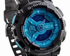 G Shock Light Button Casio G Shock Ga 110b 1a2 Watch Black Light Blue