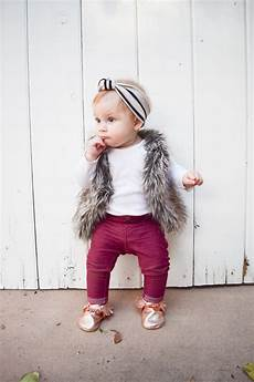 baby fashion baby fur vest gold moccasins maroon