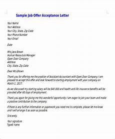 Letters Of Acceptance Job Offer Free 14 Job Acceptance Letter Templates In Pdf Ms Word