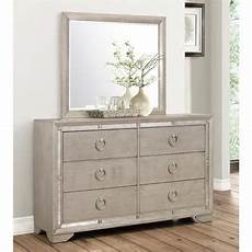 abbyson living grayson mirrored 6 drawer dresser with
