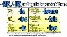 Imperfect Chart Se 241 Or Jordan S Spanish Videos 187 Blog Archive 187 Er Ir