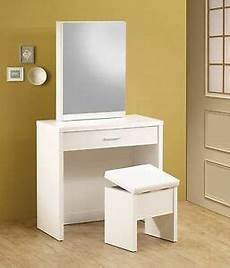 ultra mod white vanity with sliding mirror dressing table