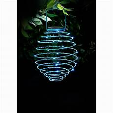 Spiral Solar Lights Solar Powered Spiral Lantern Blue Garden Lighting B Amp M