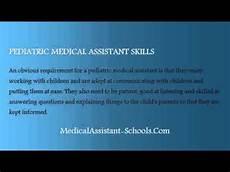 Medical Assistant Pediatric Jobs Pediatric Medical Assistant Youtube